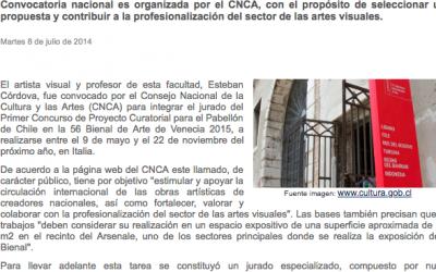 Docente FAUP integra jurado en concurso que elegirá proyecto curatorial para el pabellón de Chile en la Bienal de Venecia